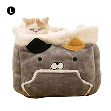 Saco de Dormir para Gatos Nido de Gato Calentamiento Suave Lavable Camas para Gatos Manta para acurrucarse Estera para Mascotas Adecuado para Gatos y ...