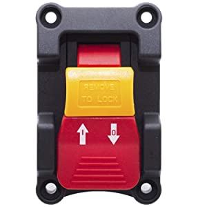 Gadgeter Dual Voltage 20A 110V/220V SAFETY Locking Switch For Table Saw