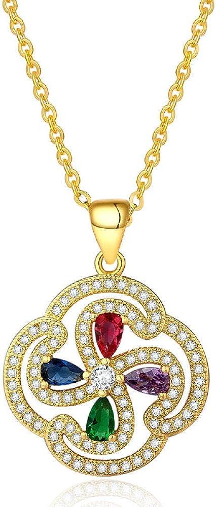 fangfanger Chapado en Oro de 24 Quilates, Joyas de Color, Collar de Piedra, Pendientes, Conjunto de Pendientes, Piedras Preciosas, Diamantes, Damas, simulación de Oro
