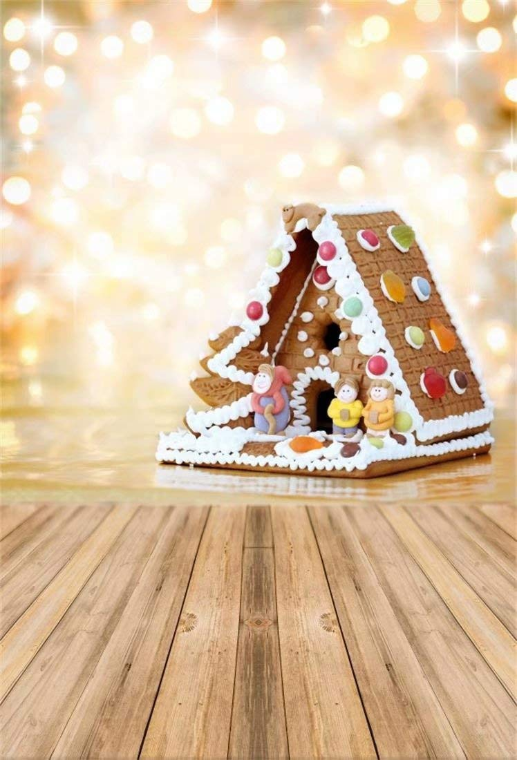 Christmas Gingerbread House Background.Ofila Christmas Gingerbread House Backdrop 5x8ft Polyester Fabric Bokeh Photos Background Halo Kids Xmas Photo Booth Gingerbread Houses Party