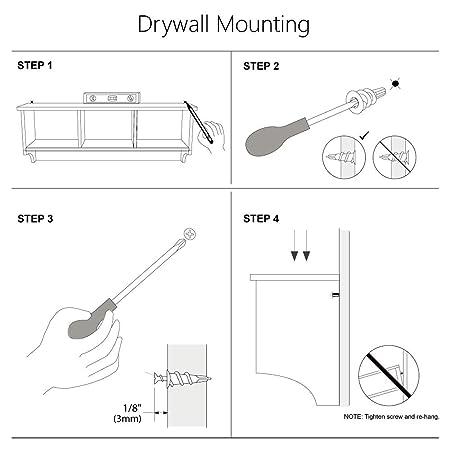 Amazon.com: Perchero de pared con ganchos para colgar en la ...
