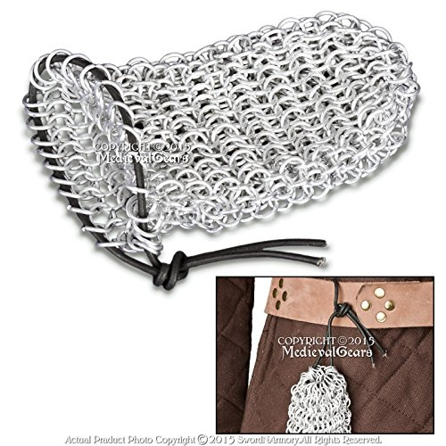 Medieval Gears Brand Aluminum Chainmail Coin Dice Bag Medieval Renaissance Event Costume LARP (Dice Costumes)
