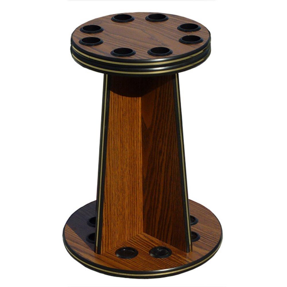 8 Cue Pool Stick Wood Floor Rack - English Oak