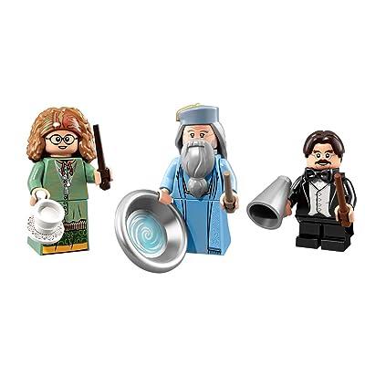LEGO Harry Potter Collectible Minifigures Albus Dumbledore, Filius Flitwick, and Sybil Trelawney: Toys & Games