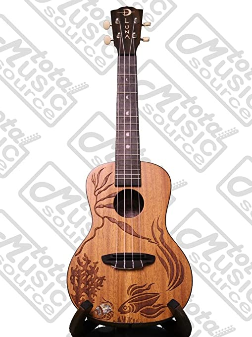 Luna Guitars ukelele Coral W/TMS polaco Cloth: Amazon.es ...