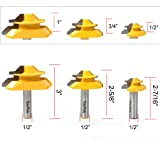 YaeTek 3 Bit 1/2-Inch Shank Lock Miter 45 Degree
