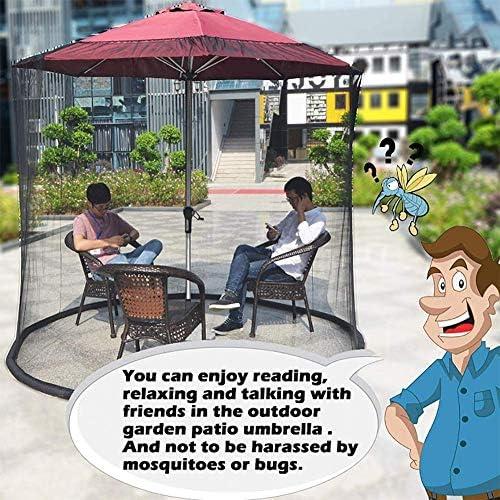Tragbarer Gartenschirm im Freien Tischschirm Regenschirm Moskitonetz Baldachin Terrassentisch Set Bildschirmhaus - Große Premium-Netz-Käfer-Netzabdeckung