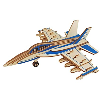 3-D Puzzles IGNB DIY Handmade Fighter Model Three-Dimensional Puzzle 3D Building Blocks Puzzle Handmade Toys And Home Decor Jigsaws & Puzzles