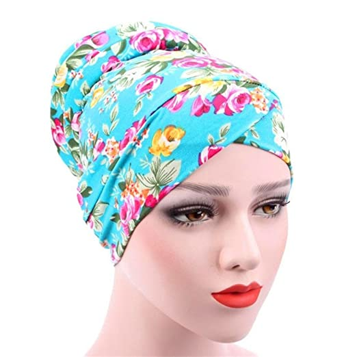 c080c27c936 Image Unavailable. Image not available for. Color  potato001 Women s Muslim  Islamic Stretch Turban Hat Chemo Cap Hair ...