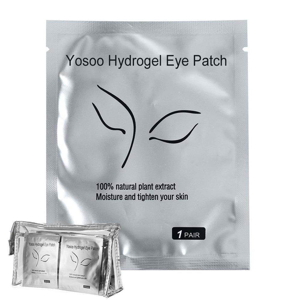 Yosoo 100 Pairs SetUnder Eye Pads Lint Free Lash Extension Eye Gel Patches for Eyelash Extension Eye Mask Beauty Tool