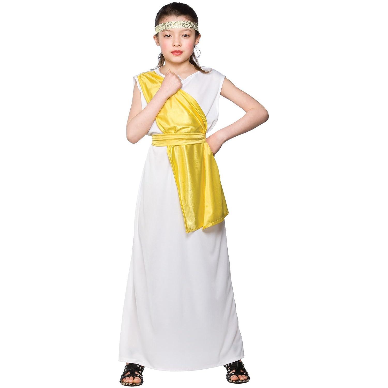 l girls greek costume for ancient historic fancy dress