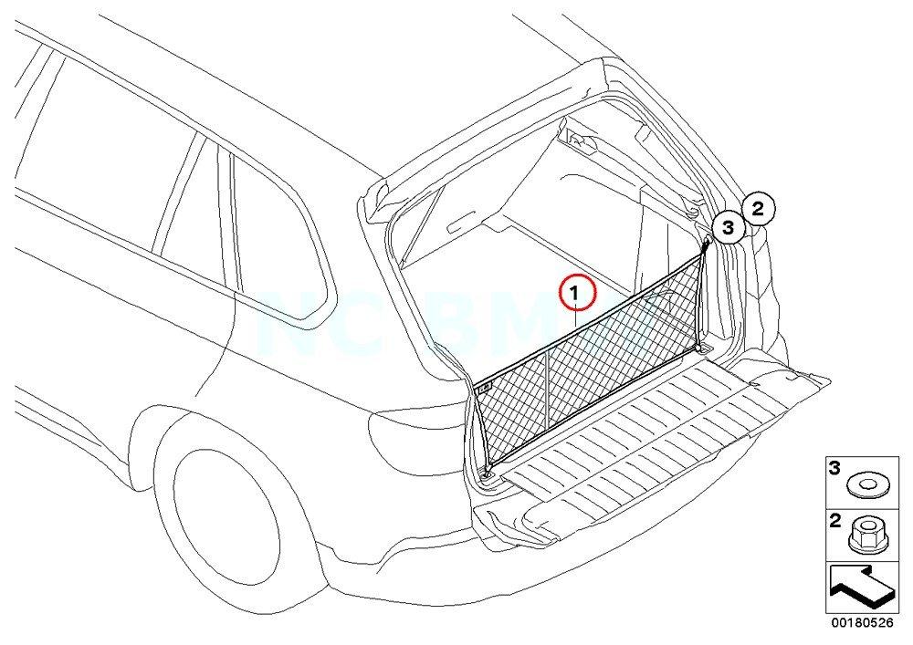 Amazon Com Bmw Genuine Luggage Net Automotive