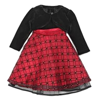 a96112a6cbd0 Blueberi Infant Toddler Girl Sparkly Red Sequin Party Dress Holiday Capelet  3-6m