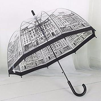 zhudj – Creación del Follaje personalizado, transparente, flor de cerezo, Appollo paraguas,
