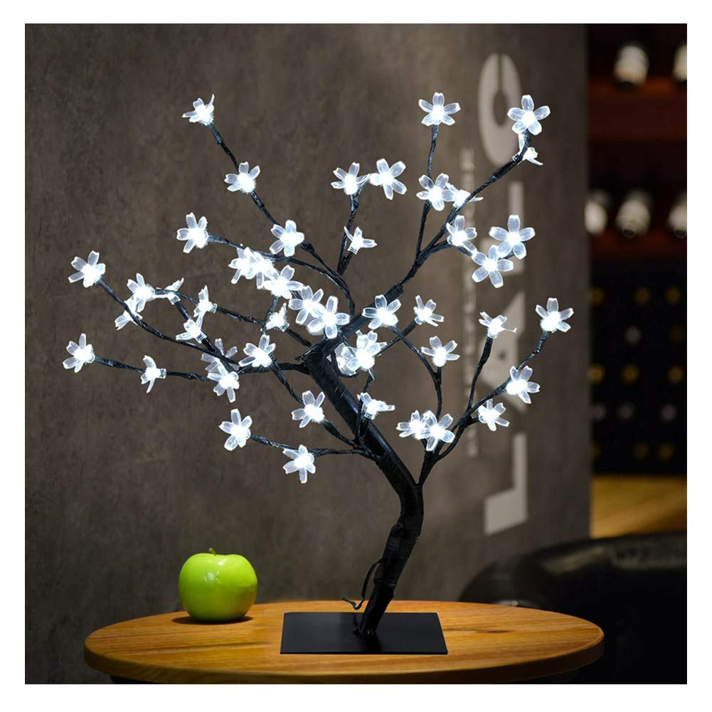 callm Christmas Decoration,LED Cherry Blossom Light,0.45M 48LED Cherry Blossom Desk Top Bonsai Tree Light (Yellow)