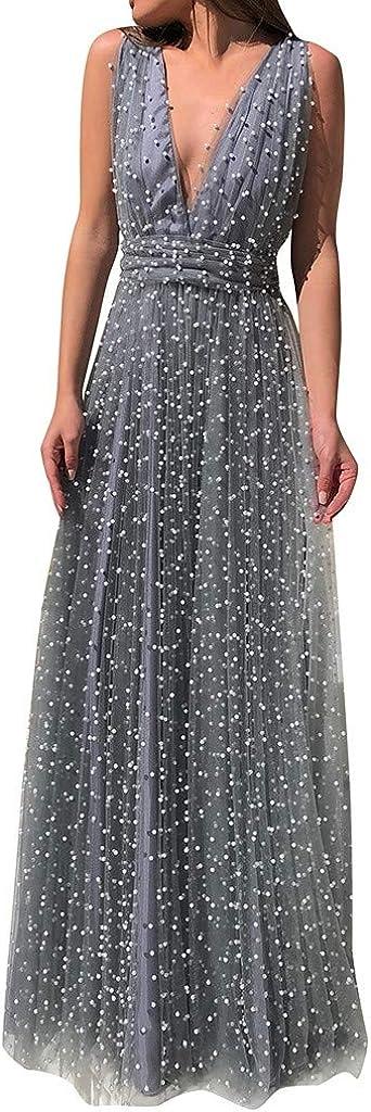 RTYou Women Dress Womens Sequin Bridesmaid Dress Prom Banquet Evening Formal Dresses