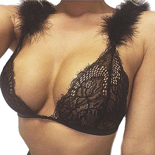 OVERMAL Women Translucent Underwear Chest Lace Vest Lingerie (Girls Think Tank)