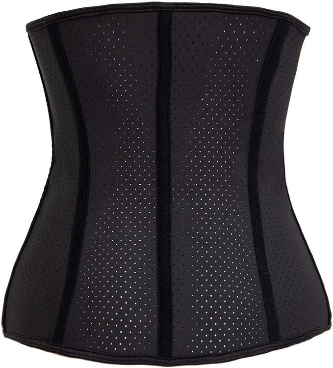 Details about  /Lady Latex Rubber Zip Waist Trainer Fat Burner Shapewear Corset Slim Body Shaper