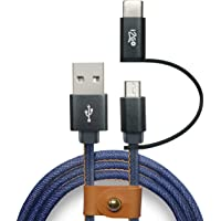 Cabo Micro USB + USB-C, i2GO Jeans, I2GCBL520, 1.5M, Jeans