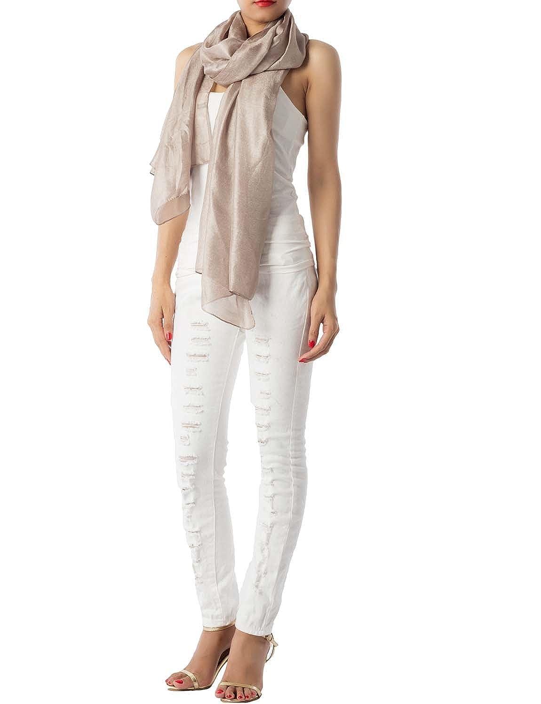 iB-iP Donna leggera tinta unita lino grande oversize a picco Sciarpa Fashion