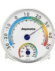 Igrometro e termometro analogico da interno e esterno per misurare temperatura e umidità; dispositivo combinato con elevata precisione