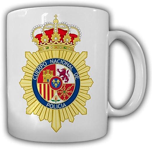 CNP cuerpo nacional de policía nacional cuerpo autoridad España Madrid escudo – Taza de café: Amazon.es: Hogar