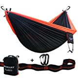 SEGMART Camping Hammock- Easy Hanging Double Hammock with Tree Straps&Carabiners, 600lbs
