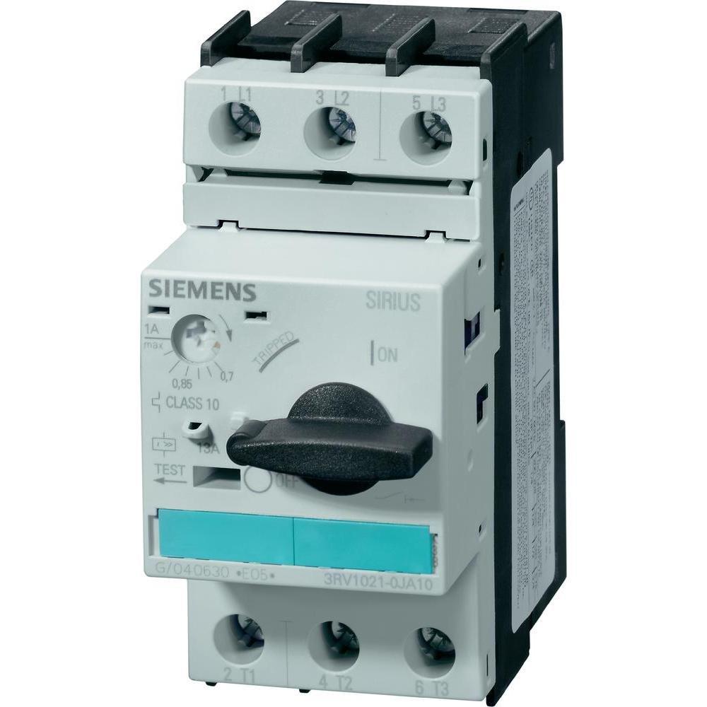 Siemens 3RV1021-1JA10 Manual Starter and Enclosure, Open Type, 7-10 FLA Adjustment Range
