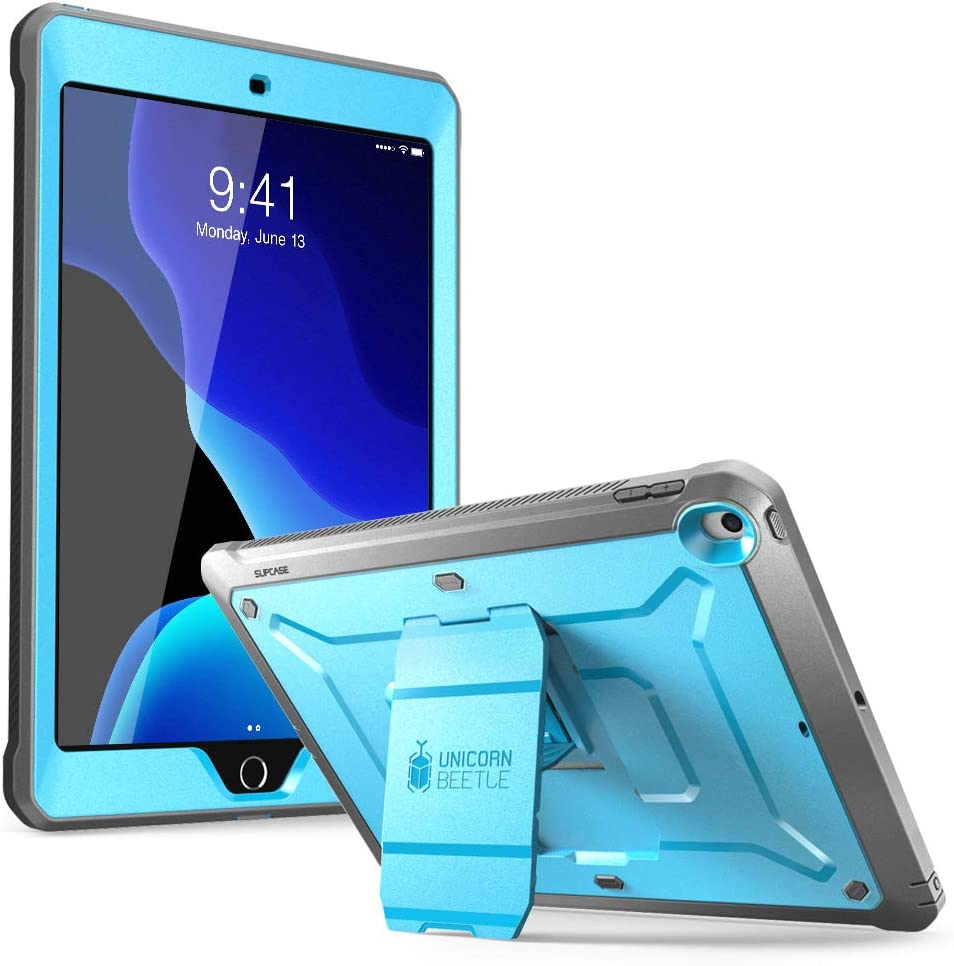 SUPCASE Designed for iPad 10.2 2019 Case, [Unicorn Beetle Pro Series] with Built-in Screen Protector and Dual Layer Full Body Rugged Protective Case for iPad 10.2 Inch 2019, iPad 7th Generation (blue)
