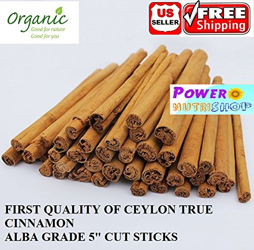 BEST QUALITY GROWN ORGANICALLY PURE CEYLON ALBA CINNAMON STICKS SRI LANKA, ALBA GRADE (1 LB (16 OZ)) by PowerNutri Shop (Image #5)