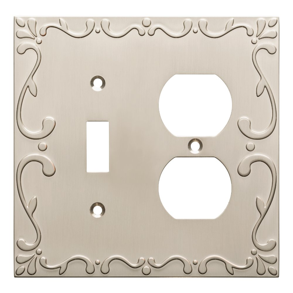 Franklin Brass W35074-SN-C Classic Lace Switch/Duplex Wall Plate/Switch Plate/Cover, Satin Nickel