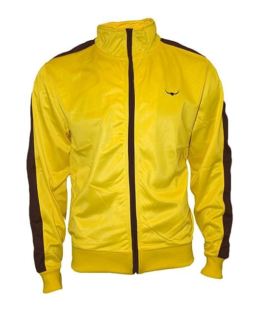 Track Jacket - Hombres con estilo y calidad de estilo retro chaqueta de chándal por ROCK-IT - en diferentes colores - tamaños S-XXXL - Color Amarillo ...