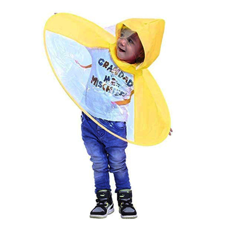 78f3ae03ae44 tecmac Creative UFO Waterproof Hands-Free Umbrella Rain Hat Headwear Cap  Raincoat Outdoor Fishing Golf Child Adult Student Rain Coat Cover Umbrellas  ...
