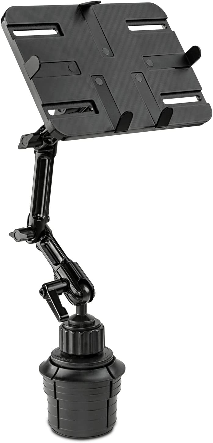 Mount-It! Premium Cup Holder Tablet Mount for Cars - Tablet ELD Mount - Heavy Duty Aluminum Tablet Mount For iPad, Galaxy, & Fire Tablets (MI-7320)