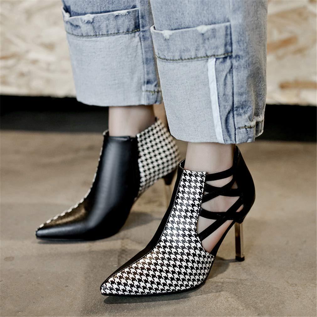 YAN damen es Stiletto Schuhe Schuhe Schuhe 2019 New Sandals High Heel PU Stiefel Fashion Zipper Schuhe Dress Schuhe Hochzeit Party & Evening Weiß schwarz,A,43 B07PGTC8PZ Tanzschuhe Jahresendverkauf 54fd5b