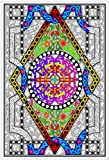 Stuff2Color Circle Diamond - 22x32.5 Giant Line Art Coloring Poster (Great for Family Time, Adults, Kids, Classrooms, Care Facilities and Group Activities)