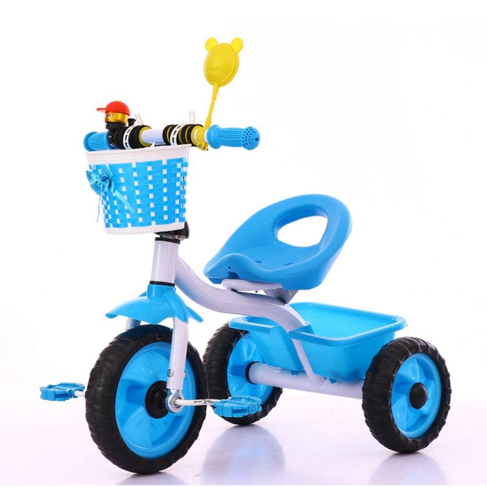 XQ 子供用三輪車軽量発泡ホイール1-3-5歳 子ども用自転車 ( 色 : 青 ) B07C7DJCSC 青 青