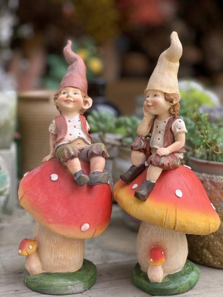 SDBRKYH Decoración de jardín Escultura, Estatua de Duende Seta Elfo Decoración de jardín Escultura enana Creativa Jardín Decoración de Novedad: Amazon.es: Hogar