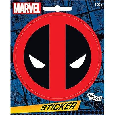 """Ata-Boy Marvel Comics Deadpool Logo 4"""" Full Color Sticker: Arts, Crafts & Sewing"""