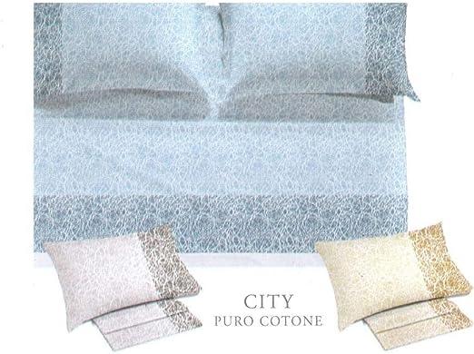 Caleffi - Juego de sábanas de Matrimonio de Puro algodón: Amazon ...