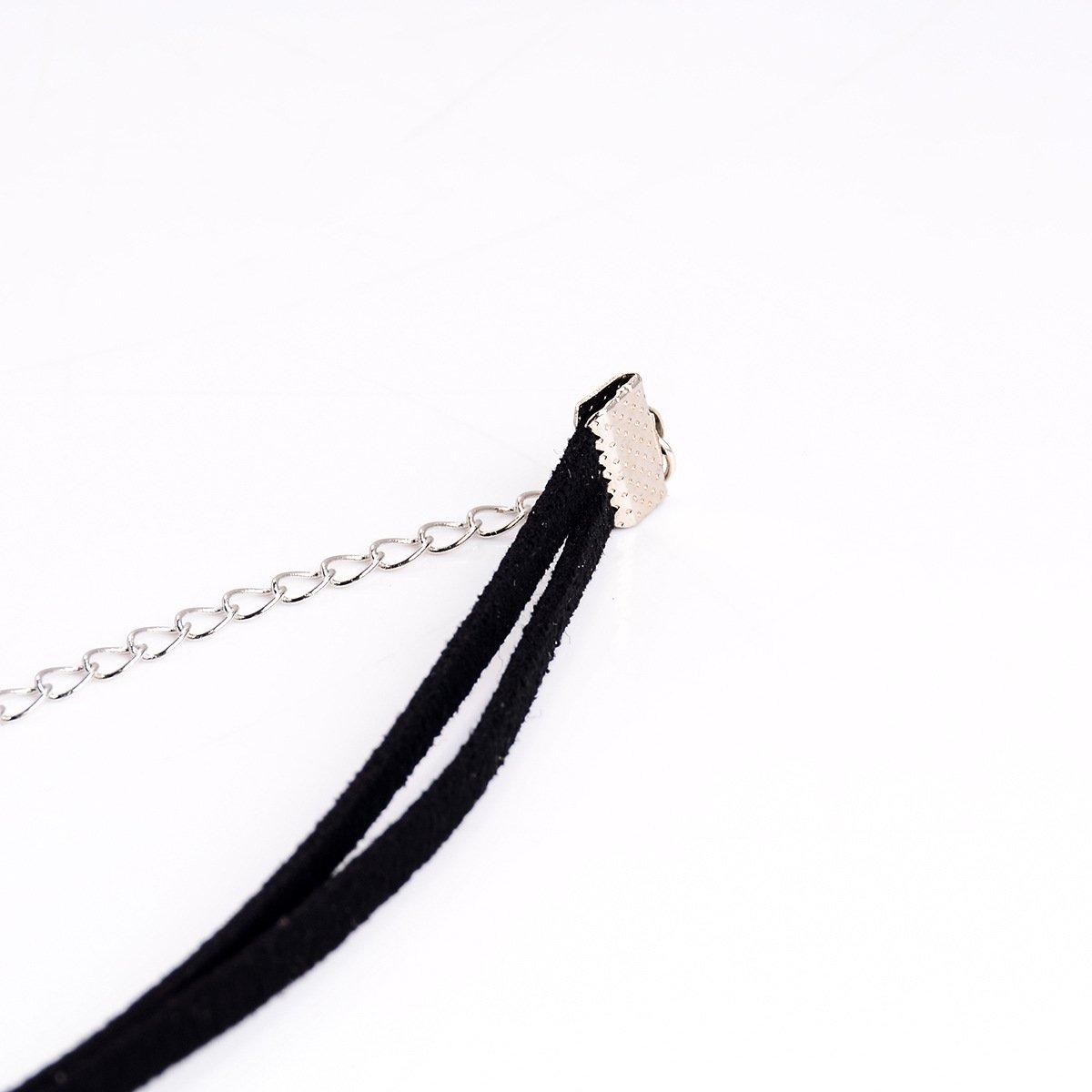 Kaamastra Womens Sexemara Black Velvet Necklace Q2DX001.