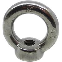 2 stuks ringmoeren M16 gegoten en gepolijst vergelijkbaar met DIN 582 roestvrij staal A2