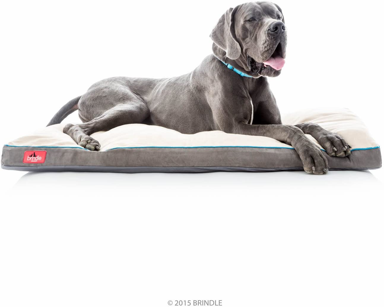 Brindle Soft Memory Foam Dog Bed with Removable Washable Cover