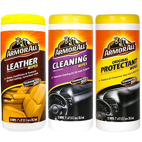 Armor All Wipes Car Interior Cleaning Bonus Pack Leather, Cleaning & Protectant (Care Kits Cleaning Car)