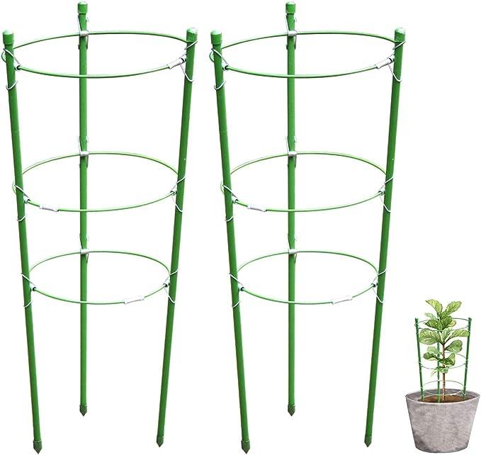 HsingsJ Soporte para plantas de jardín, anillos de apoyo para ...