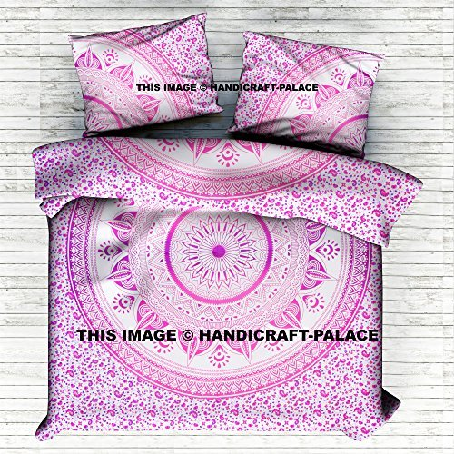 Queen Size Comforter Hippie Cotton Doona Duvet Cover Ethnic Tapestry Duvet Cover Hippie Ombre Mandala Boho Duvet Cover Queen Indian Quilt Cover Cotton Throw Doona Cover By ''Handicraft-Palace''
