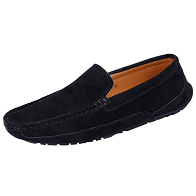 Men's Slip On Comfort Trendy Driving Car Suede Leather Loafers Shoes/Flats
