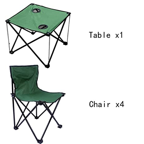 Mesa HUO sillas Plegables al Aire Libre Almuerzo Viaje ...