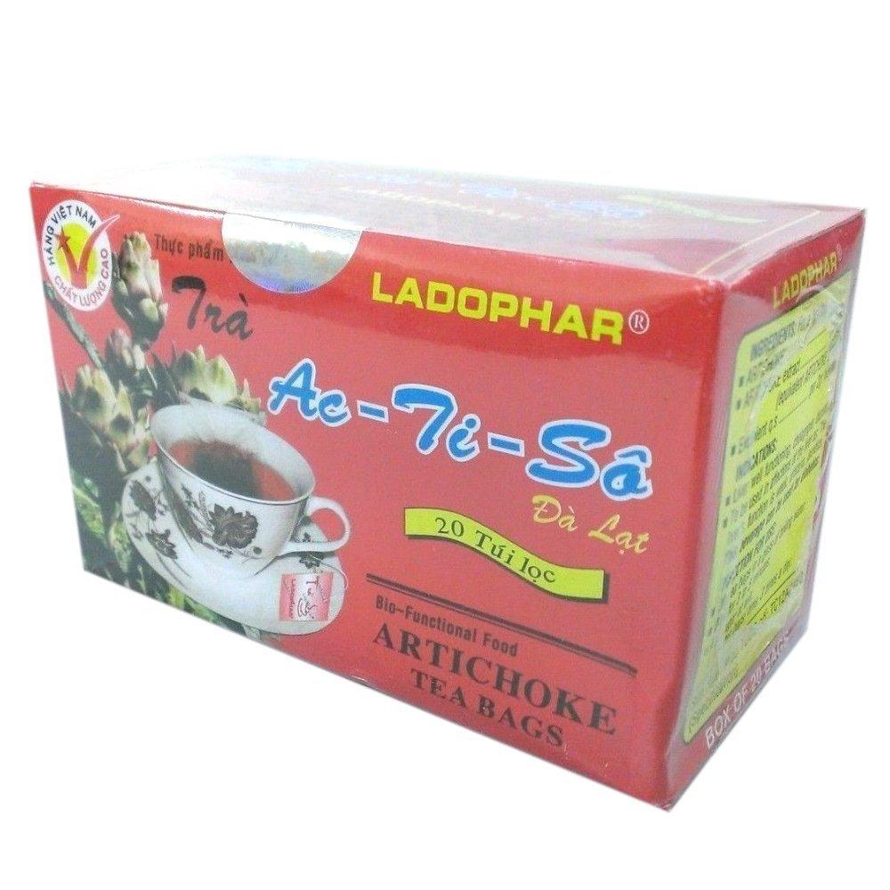 03 Boxes of 20 Bags X 02 Grams, Artichoke Tea Bags, Ladophar