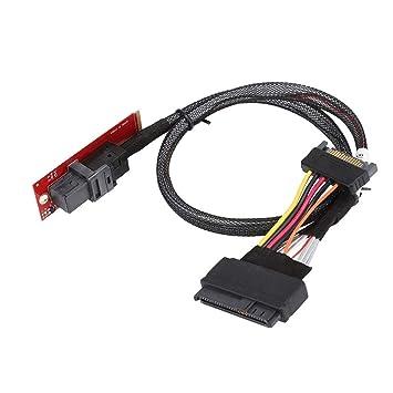 Wendry Tarjeta Vertical SSD, Cable U.2 a M.2 Cable de conexión SF ...